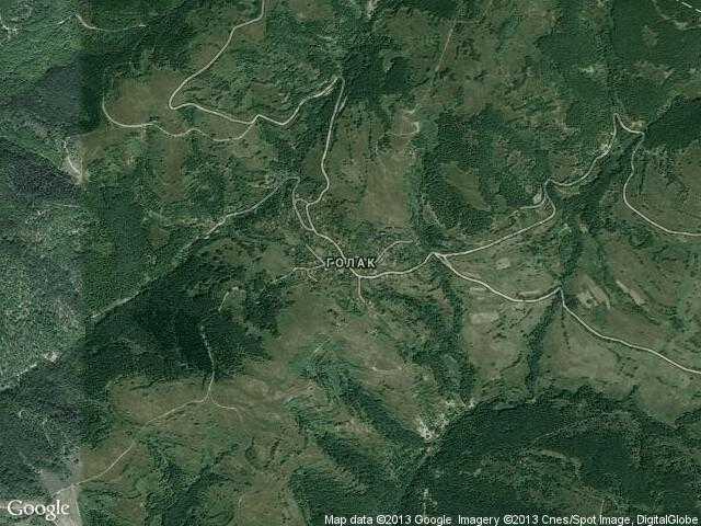 Сателитна карта на Голак