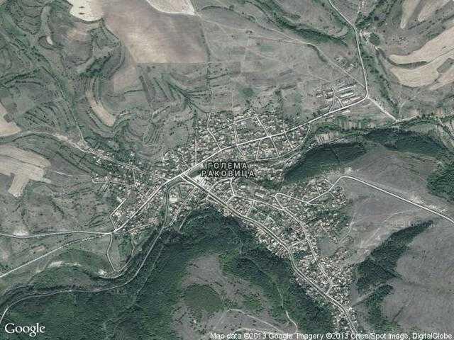 Сателитна карта на Голема Раковица