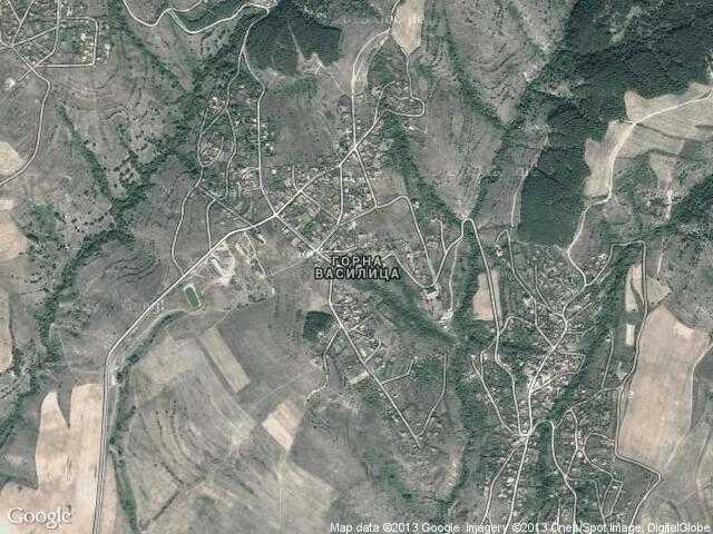 Сателитна карта на Горна Василица