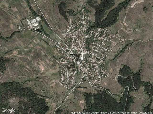 Сателитна карта на Горни Окол