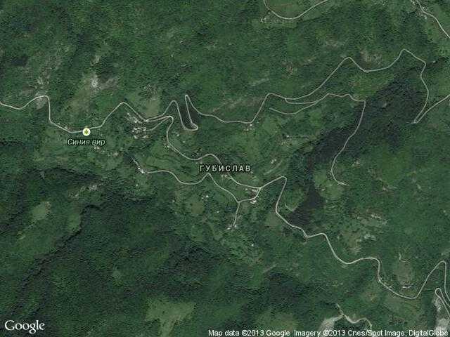 Сателитна карта на Губислав