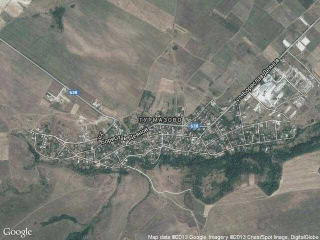 Сателитна карта на Гурмазово