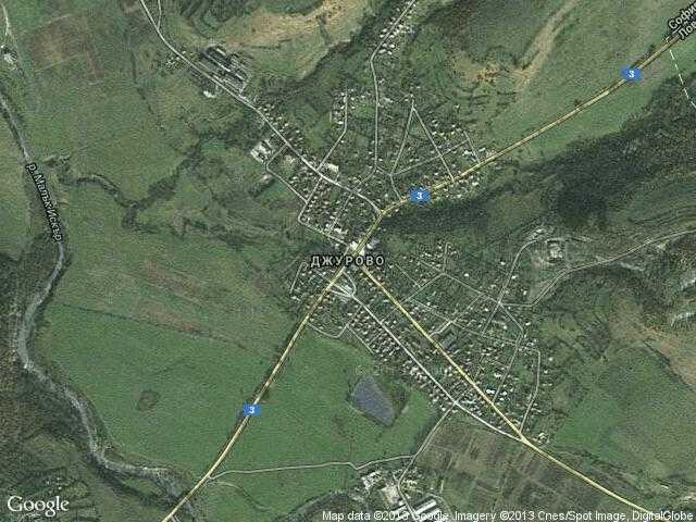Сателитна карта на Джурово