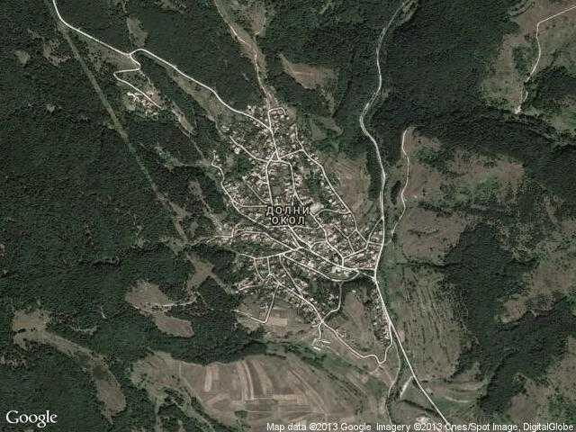 Сателитна карта на Долни Окол