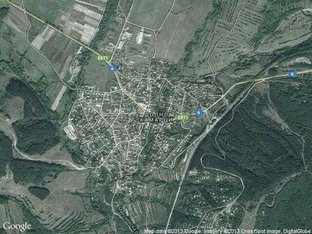 Сателитна карта на Долно Камарци