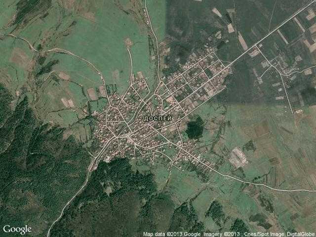 Сателитна карта на Доспей