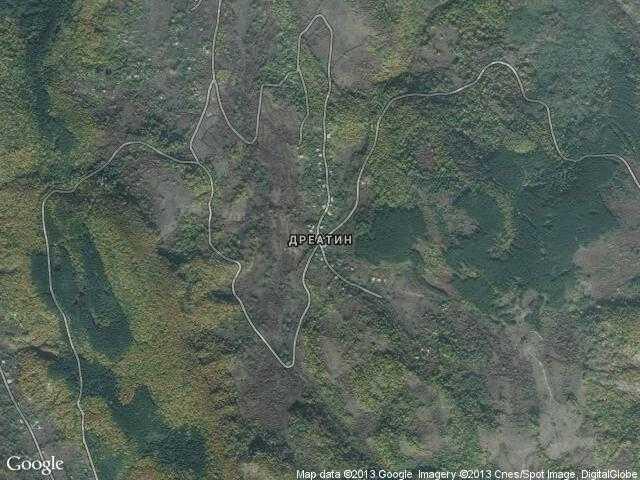 Сателитна карта на Дреатин