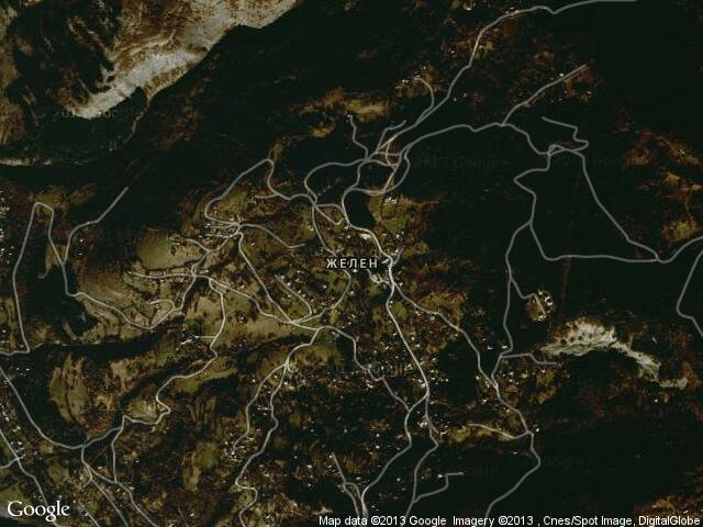 Сателитна карта на Желен