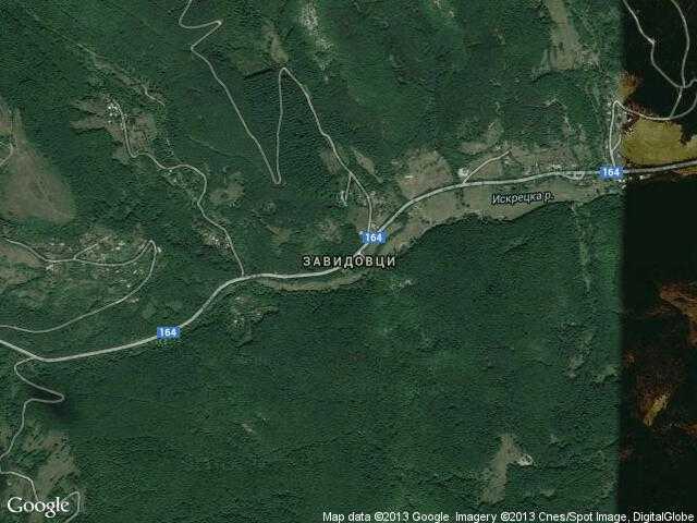 Сателитна карта на Завидовци