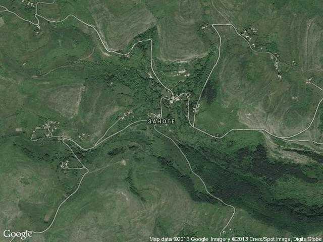 Сателитна карта на Заноге