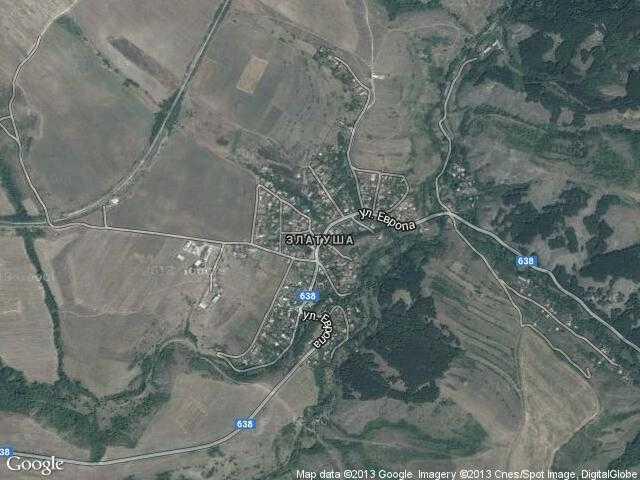 Сателитна карта на Златуша