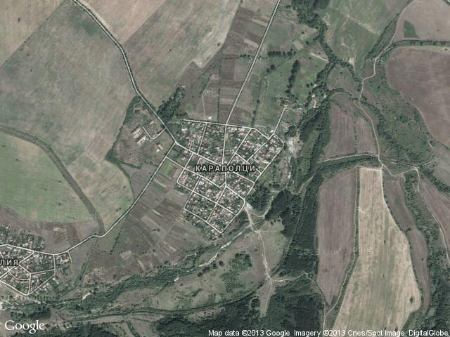 Сателитна карта на Караполци