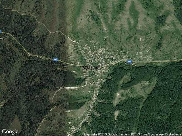 Сателитна карта на Клисура