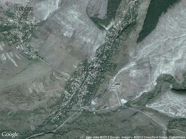 Сателитна карта на Комщица