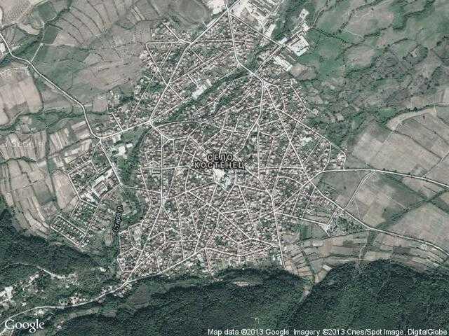 Сателитна карта на Костенец