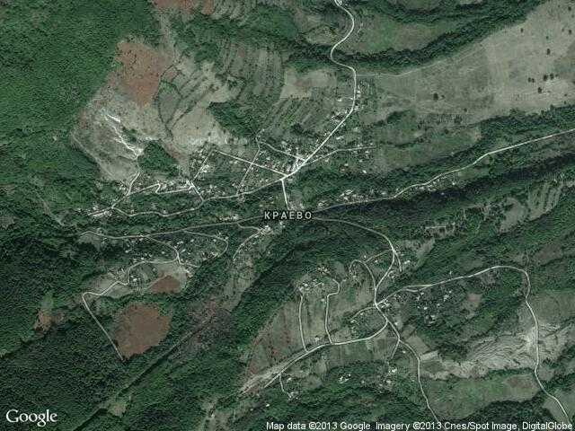 Сателитна карта на Краево