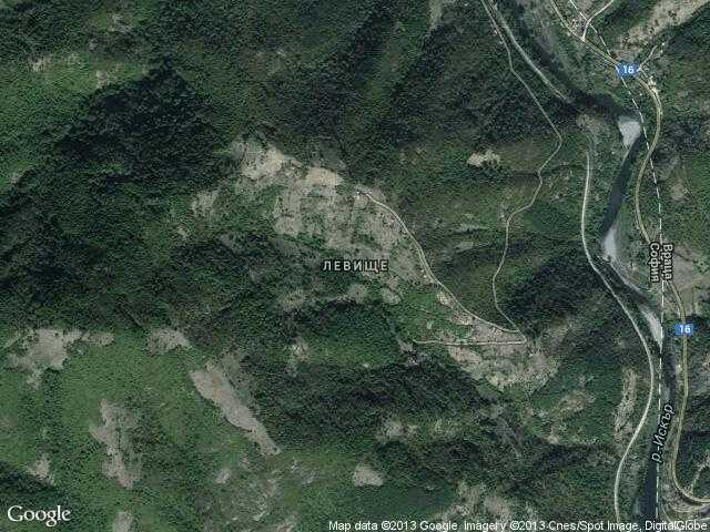 Сателитна карта на Левище