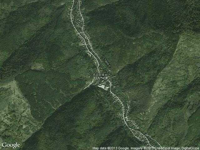 Сателитна карта на Лопян