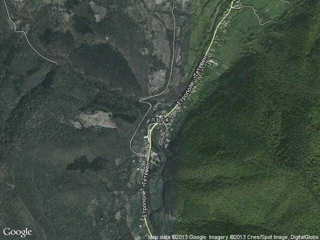 Сателитна карта на Лъга