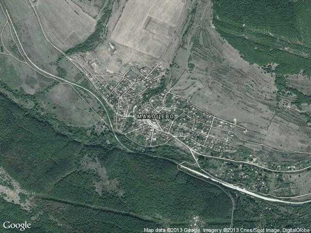 Сателитна карта на Макоцево