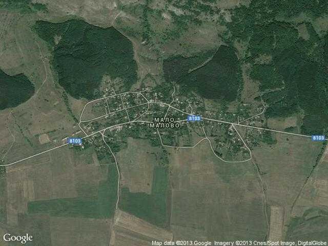 Сателитна карта на Мало Малово