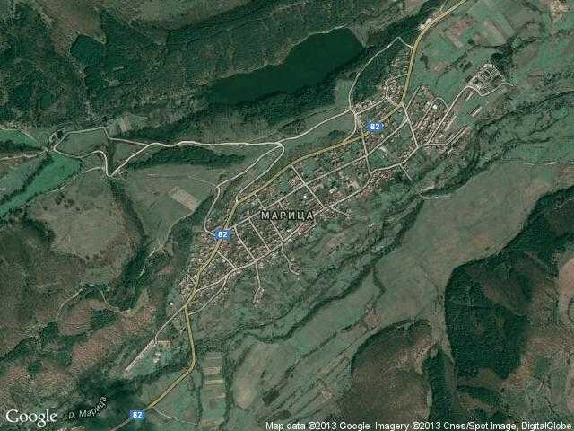 Сателитна карта на Марица