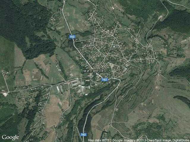 Сателитна карта на Миланово