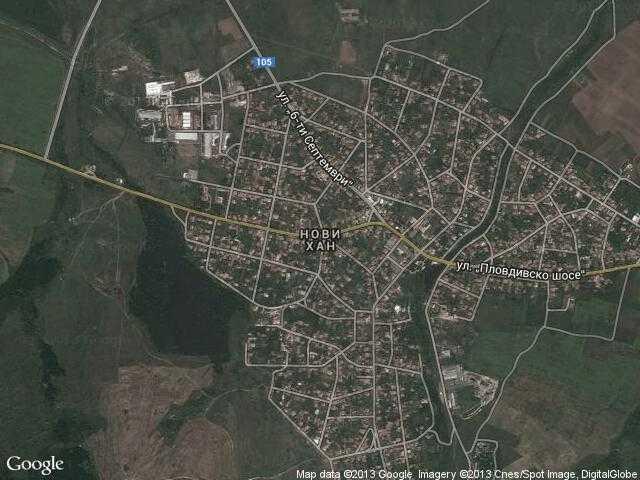 Сателитна карта на Нови хан