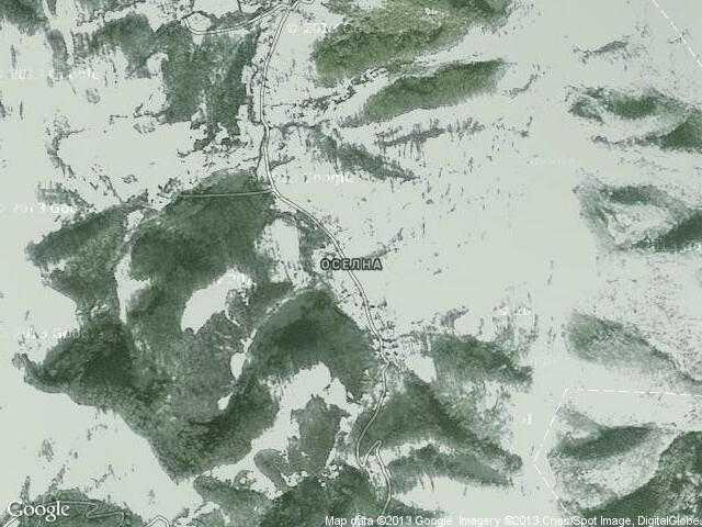 Сателитна карта на Оселна