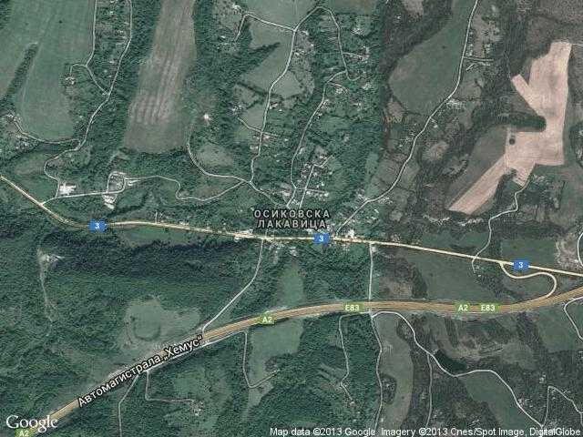 Сателитна карта на Осиковска Лакавица