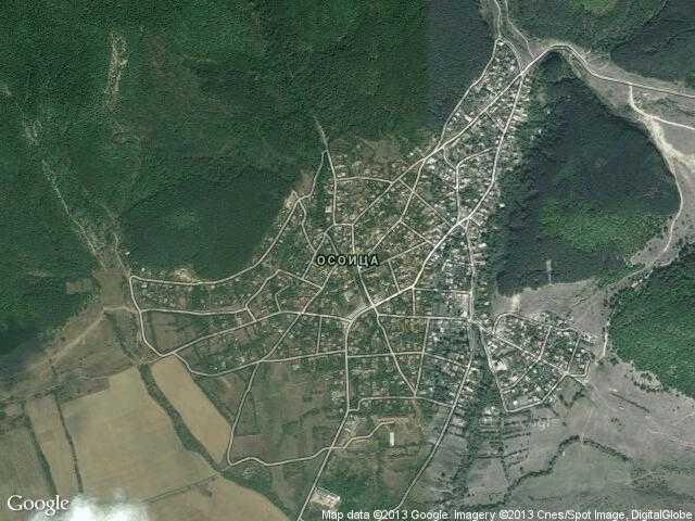 Сателитна карта на Осоица