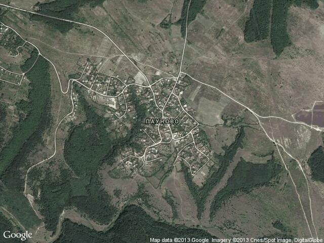 Сателитна карта на Пауново