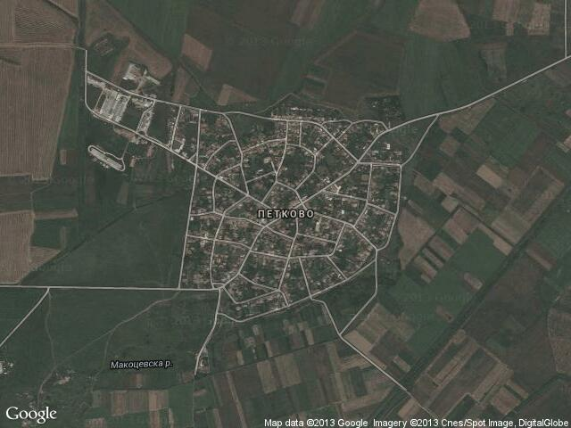 Сателитна карта на Петково