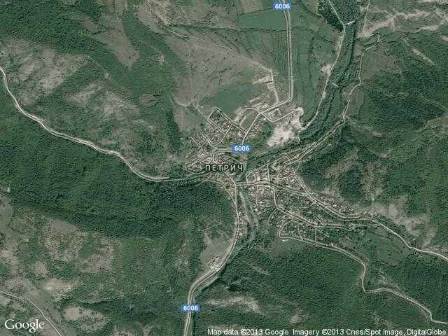 Сателитна карта на Петрич