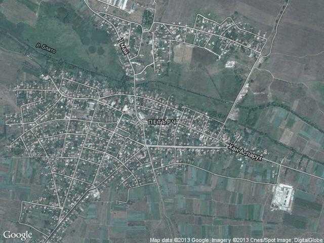 Сателитна карта на Петърч