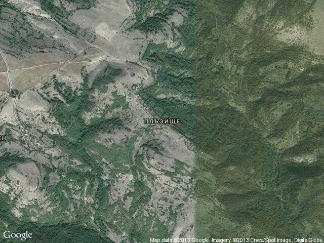 Сателитна карта на Плъзище