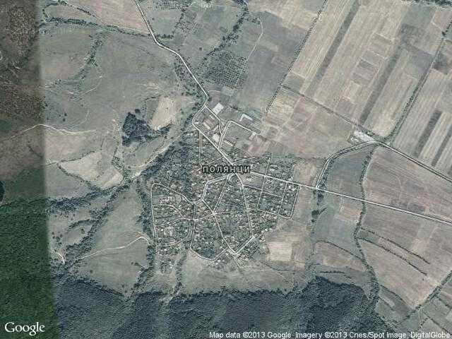 Сателитна карта на Полянци