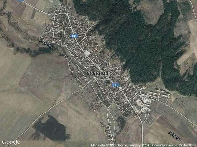 Сателитна карта на Поповяне