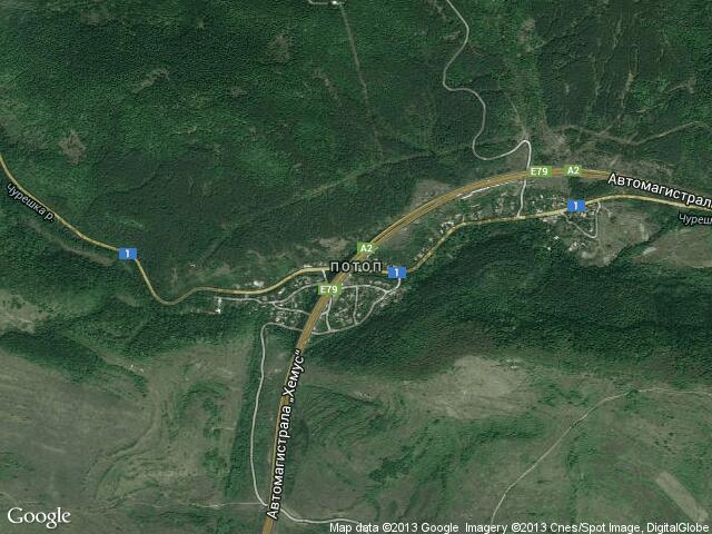 Сателитна карта на Потоп