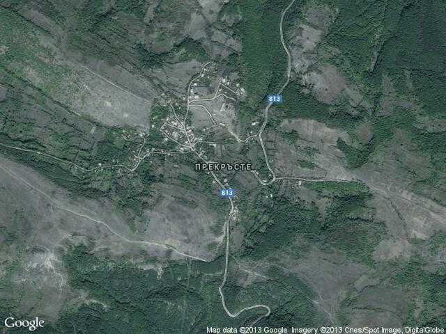 Сателитна карта на Прекръсте