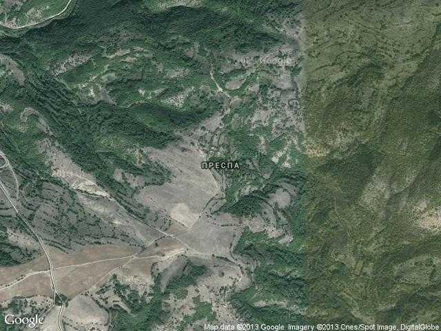 Сателитна карта на Преспа