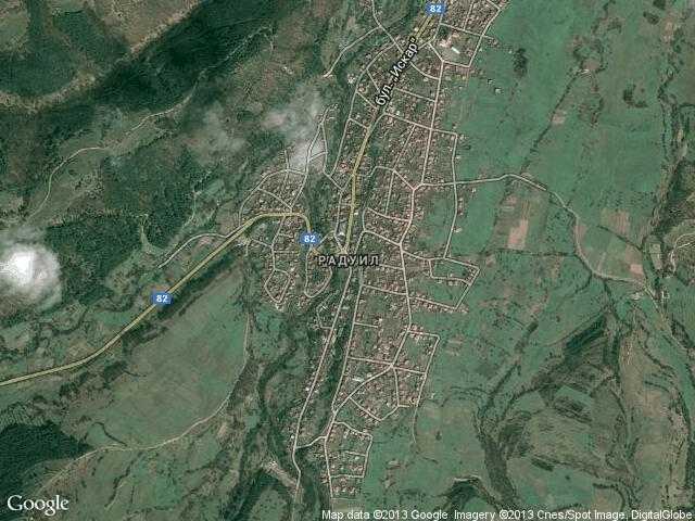 Сателитна карта на Радуил