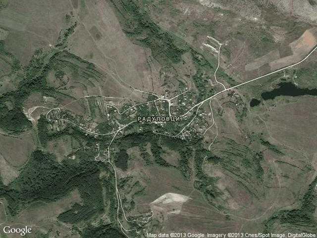 Сателитна карта на Радуловци