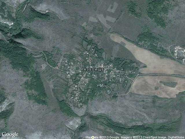 Сателитна карта на Разбоище