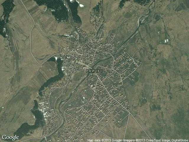 Сателитна карта на Райово