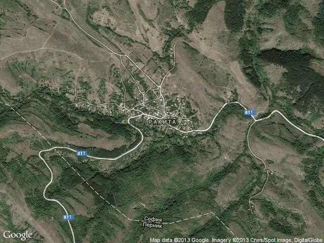 Сателитна карта на Ракита