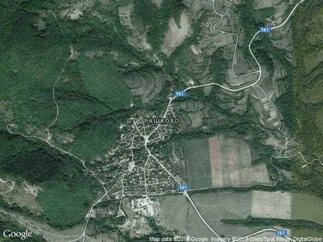 Сателитна карта на Рашково