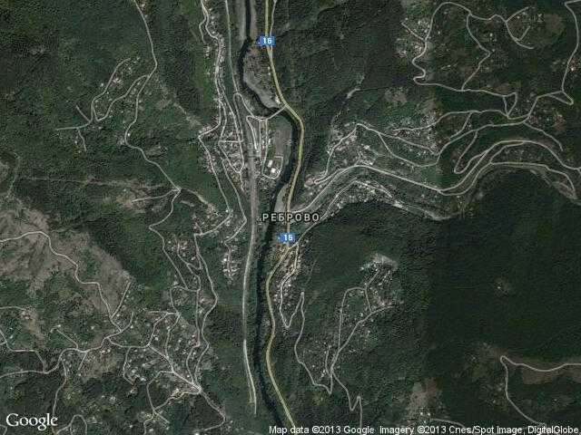 Сателитна карта на Реброво