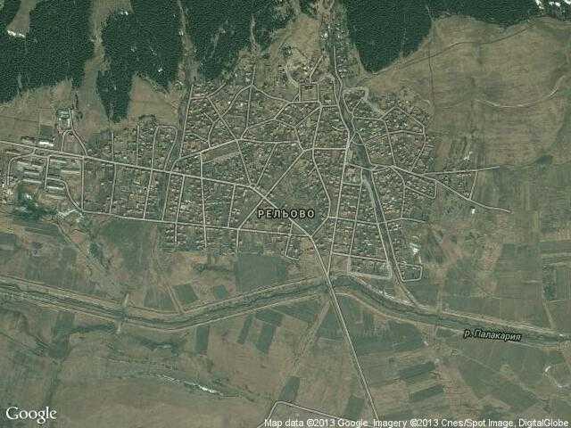 Сателитна карта на Рельово