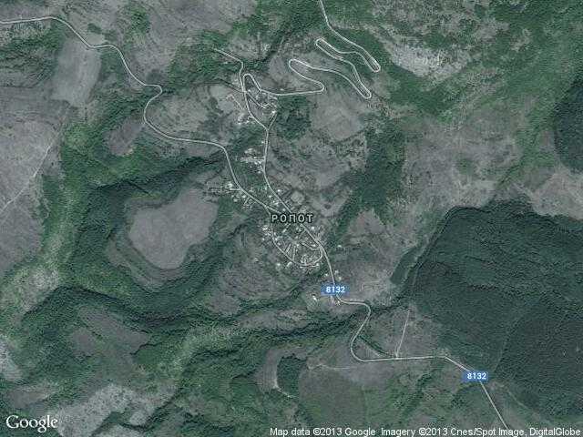 Сателитна карта на Ропот